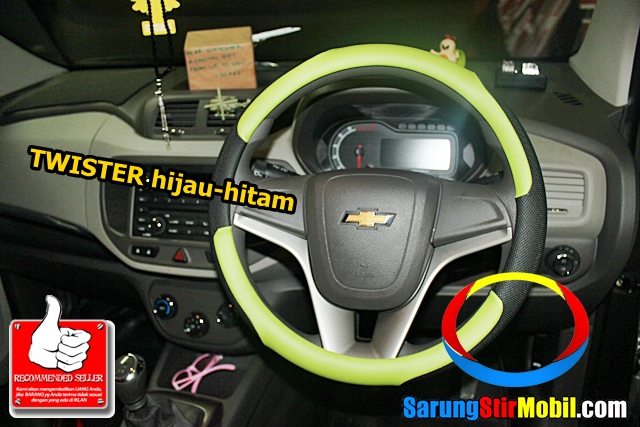 Cantiknya Sarung Stir Mobil Chevrolet Spin Warna Hijau Stirmbtech